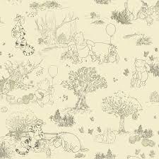 room mates deco winnie the pooh toile room mates deco winnie the pooh toile quot wallpaper