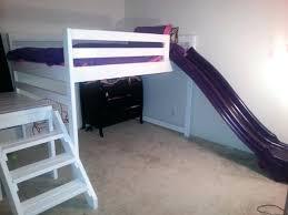 Building A Loft Bed Frame Bunk Bed Slide Diy Loft Bed With Slide Realvalladolid Club