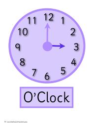 clock posters o u0027clock half past display or flashcards free