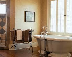 diy towel rack ideas bathroom traditional with towel rack soaking tub wood blinds