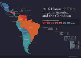 Mexico Central America And South America Map by Insight Crime U0027s 2016 Homicide Round Up