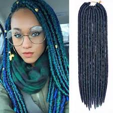 teal hair extensions 18 green mambo faux locs braids crochet dreadlock braids