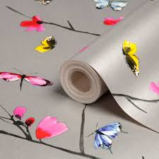 silver patterned wallpaper diy