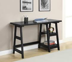 amazon com convenience concepts designs2go trestle desk black