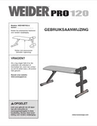 Weider Pro Bench Download Weider Pro 120 Bench Weevbe7023 User U0027s Manual For Free