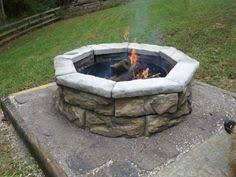 home depot outside fire pit null 28 in x 14 in steel wood fossill brown square fire pit kit