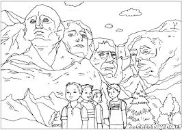 mount rushmore mount rushmore printable coloring page for kids