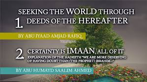 Seeking Manchester Conference Seeking The World Through Deeds Of The Hereafter