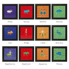sweet horoscope tile zodiac astrology aquarius pisces aries