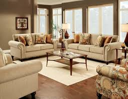Transitional Style - 2 pcs transitional style tan sofa set sm8110 fabric sofas
