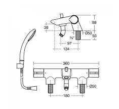 ideal standard active thermostatic bath shower mixer a4054aa