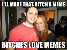 Bitches Love Meme - freshman couple memes quickmeme