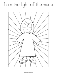 I Am The Light Of The World Coloring Page Twisty Noodle Light Coloring Page
