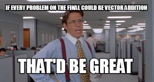 That D Be Great Meme - meme creator if every problem on the final could be vector