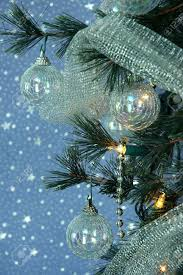 iridescent ornaments silver and glittery silver netting