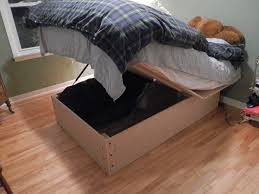 platform bed with storage diy bedframe homemade twin ideas picture