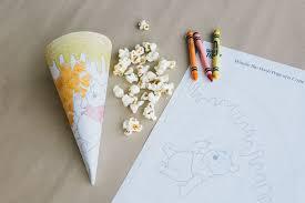 winnie the pooh coloring popcorn cone disney family