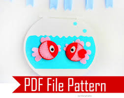 fish felt magnets and fish bowl sewing pattern pdf epattern
