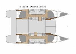 Catamaran Floor Plans by Caribbean Multihulls Fountaine Pajot Helia 44 Evolution For Sale