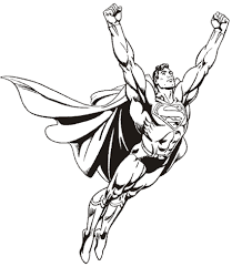 superman coloring pages and pictures of man of steel print color