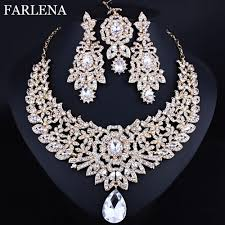 indian wedding necklace images Farlena wedding jewelry classic indian bridal necklace earrings jpg