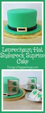 leprechaun hat shamrock surprise cake st patrick u0027s day dessert