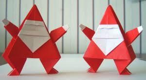 How To Make A Origami Santa - delightful origami santa s 皓 easy origami crafts