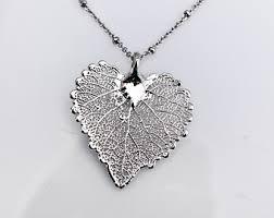 real leaf necklace images Real leaf necklace etsy jpg