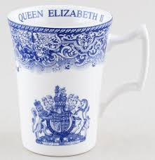 spode birthday commemorative mug of blue and white