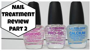la colors nail treatment review part 2 youtube