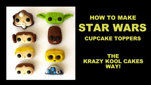 yoda cake topper wars cupcake toppers how to