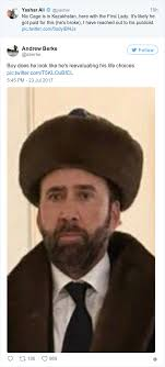 Nicolas Cage Meme - nicolas cage dressed for the occasion when he met the first lady of