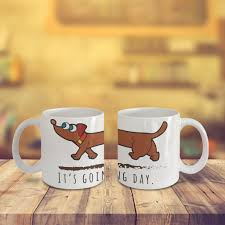 gift for family dachshund dog coffee mug u2013 it u0027s going to be a long day art wrap