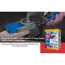 kreg r3 pocket hole jig 2 inch assembly clamp 150 bonus diy