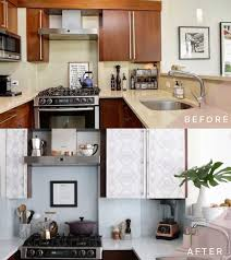 can you use magic eraser on cabinets how to transform your kitchen cabinets with wallpaper
