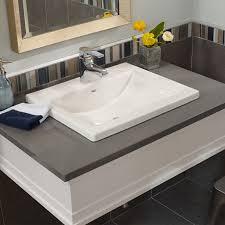 countertop bathroom sink units brilliant studio drop in bathroom sink american standard countertop