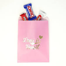 pink favor bags pink and gold is sweet paper treat favor bags 5x7 gift bags
