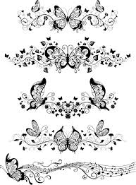 free templates vector ornaments with butterflies free