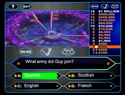 a guy fawkes themed who wants to be a millionaire game to help