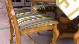 how to upholster a dining room seat for an outdoor covered porch