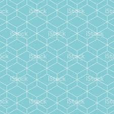 Blue Pattern Background Cube Pattern Background Vector Background Blue Green Stock Vector
