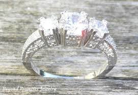 white silver rings images Stunning white sapphire silver ring 10kt white gold filled us 4 12 jpeg