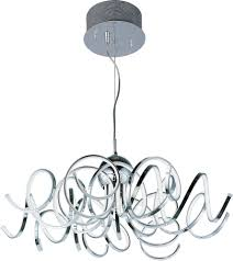Led Pendant Lighting Fixtures by Et2 E21415 Pc Chaos Modern Polished Chrome Led Drop Lighting