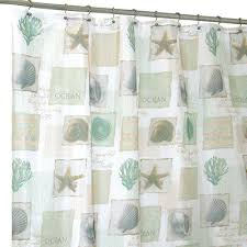 Beachy Shower Curtains Home Fashions Seaside Shower Curtain Meijer Bathroom