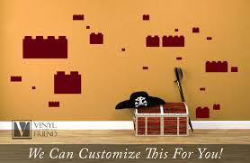 brick variety pack for brickbuilders brick themed rooms 2x2 and brick variety pack for brickbuilders brick themed rooms 2x2 and 2x4 wall decor vinyl decal lettering sticker 2479