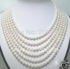 white pearl necklace designs images New arrive design fancy 6row fresh water white pearl necklace jpg