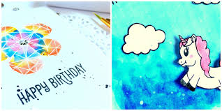coloring birthday cards mudra craft stamps birthday cards with loose and messy water
