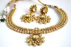 gold antique necklace sets images Antique gold plated traditional kundan necklace set sharepyar JPG
