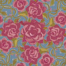 Burgundy Roses Twining Burgundy Roses Textured Fabric Eclectic House Spoonflower
