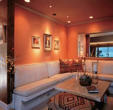 creative living room in spanish painting with additional interior